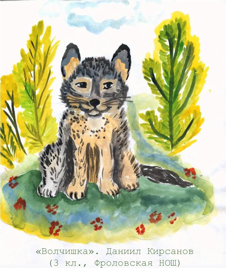 Рисунки из рассказа волчишко чарушина 14